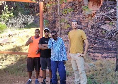 Brendon, Kieran, Reece & Oscar during a walk through the Mirima National Park.