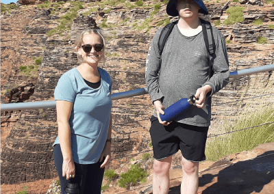 Melissa and Christopher during a Mirima National Park walk.
