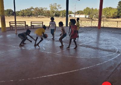 Kalumburu Kids playing basketball