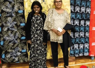 Jerisha Munro and Coral Gore-Birch at the NAIDOC Ball
